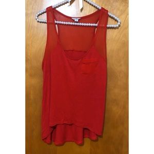 Red Sleeveless GUESS Top ♥️